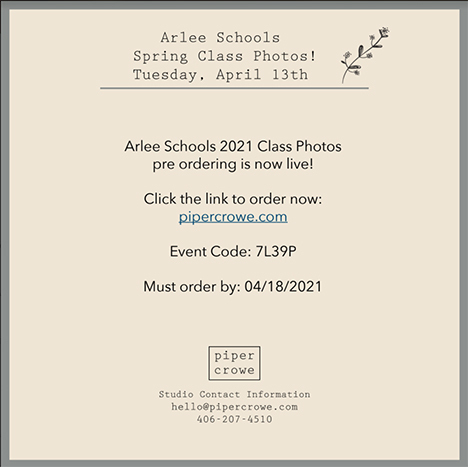 Spring Class Photos Announcement